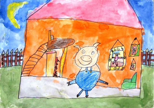 3 little pigs, Jacky, age:5