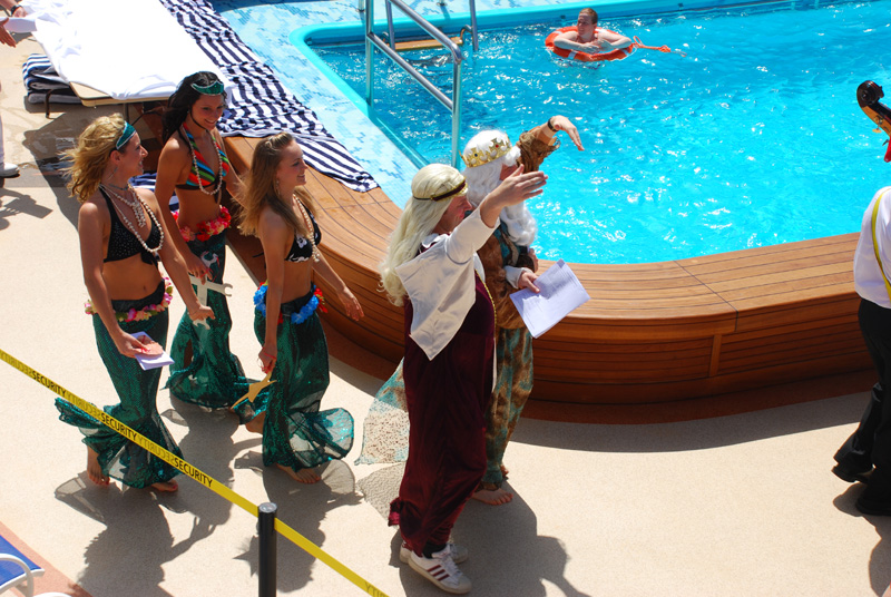 Crossing the line ceremony - Equator 8.2.2008