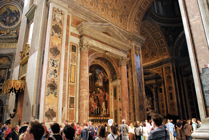 The interior of St. Peters Basilica