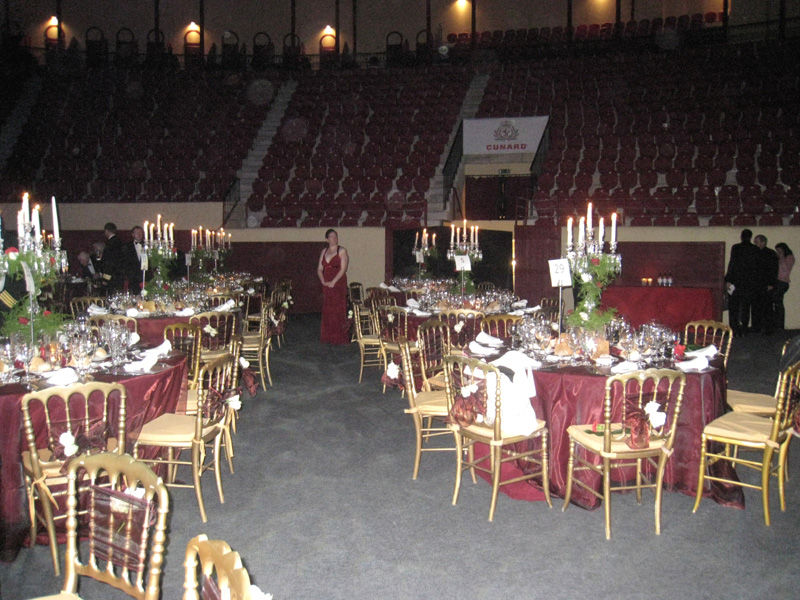 The bullring was converted for the night to seat over 800 guests for the dinner