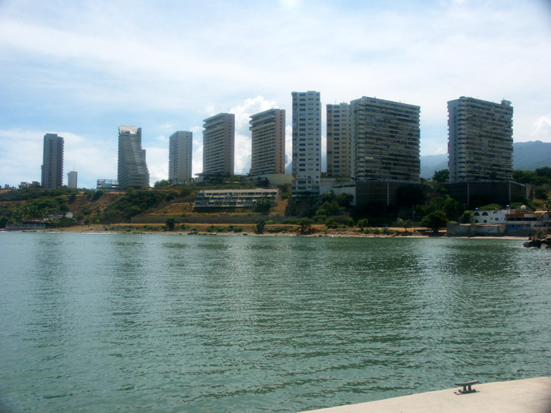 The most modern buildings in Caracus along the waterfront