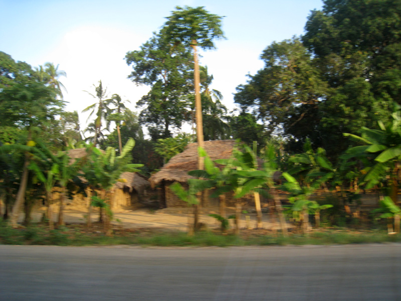 Taken from the bus on the way to the airport