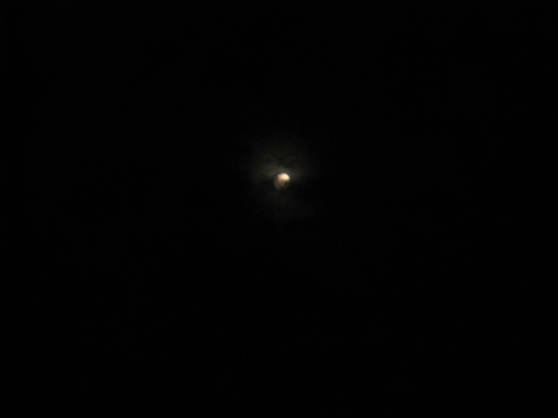 Cloud covered moon