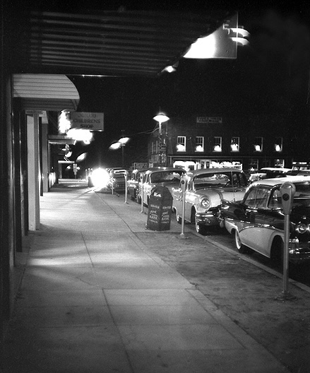 Milton Florida, at night, in 1960