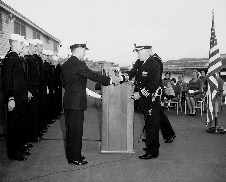 Sailor getting his LDO commission in 1962