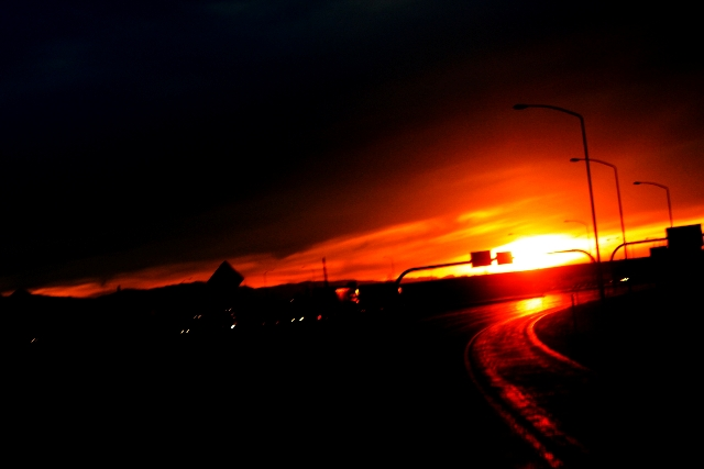 Driving into the Sunset
