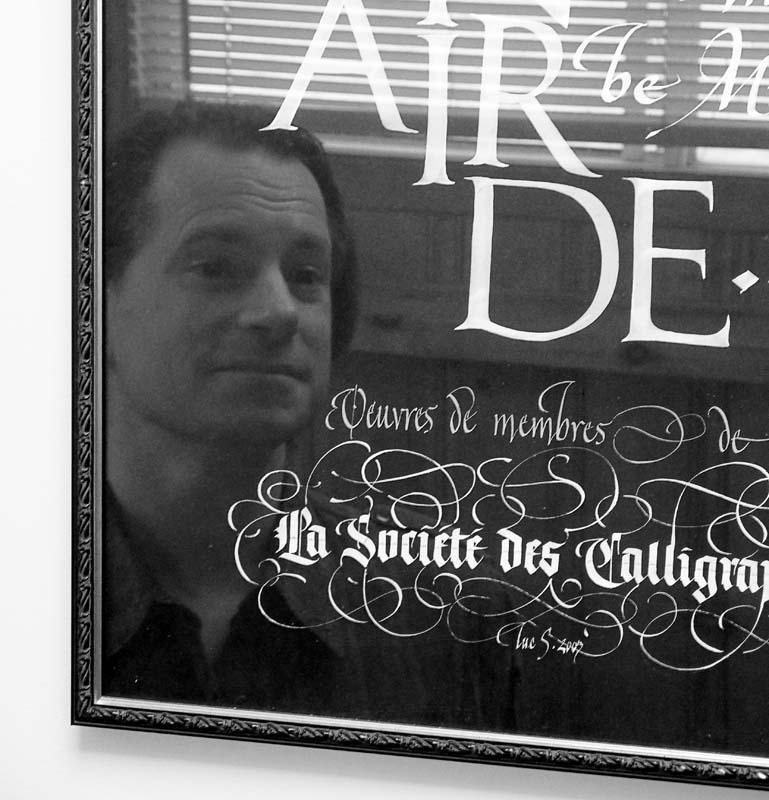 Luc Saucier, calligraphe