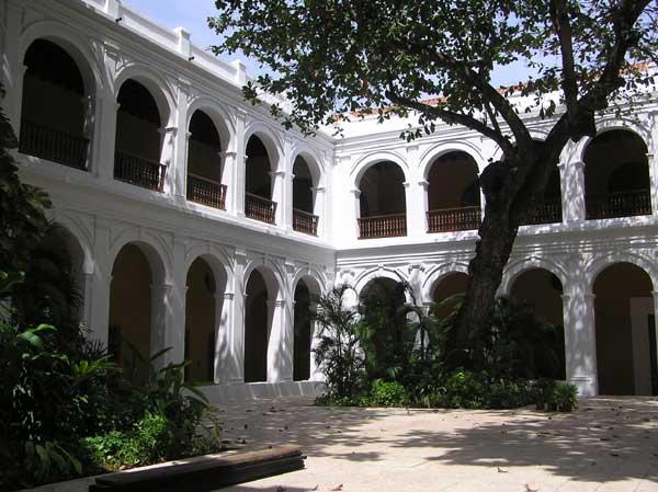 Courtyard Inside Iglesia de Santo Domingo