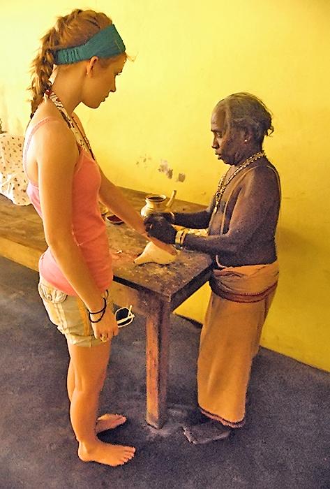 Jordan Thomson in Hindu Kovil Sri Lanka