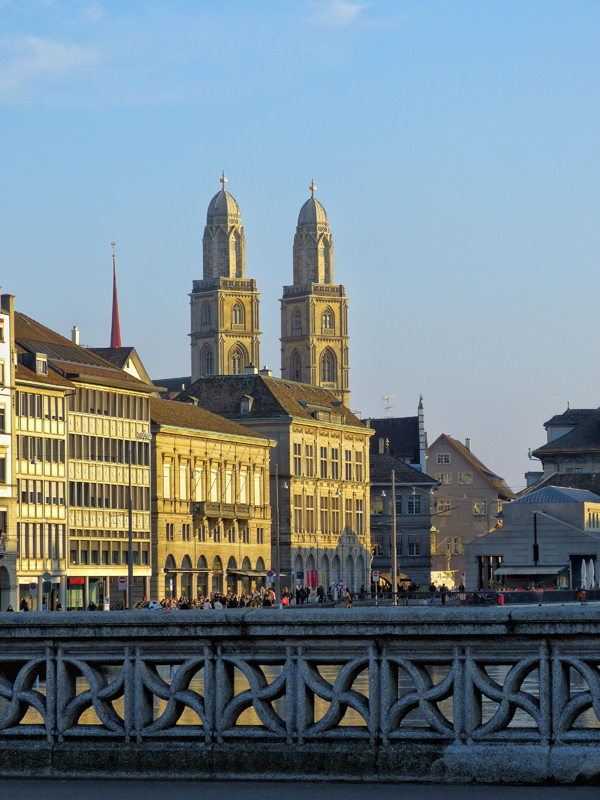 The twin towers of the Grossmünster