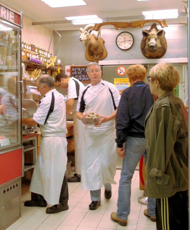 The busy butcher...