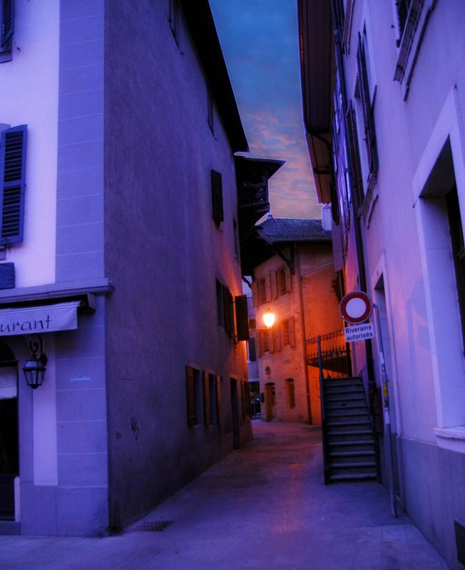 Purple alley