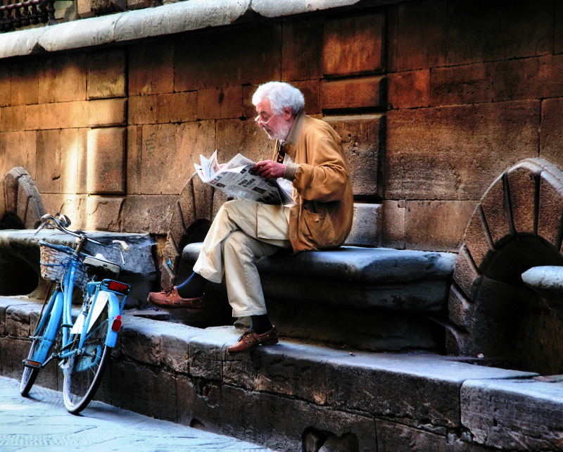 The newspaper reader