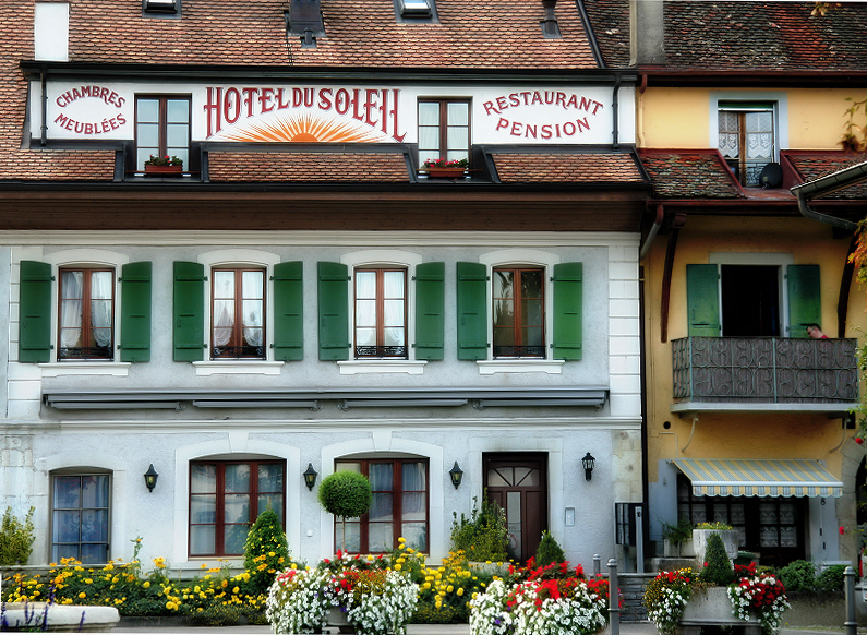 The only Hotel of the village...