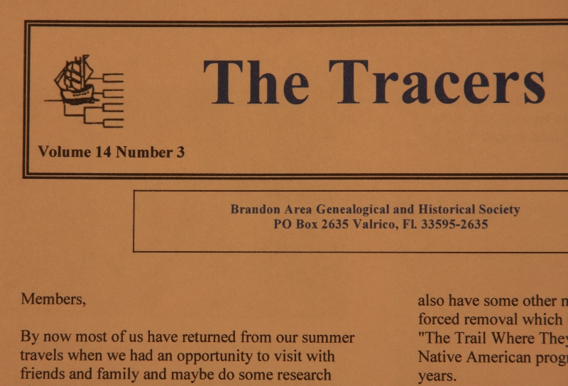 Tracers - BAGHS Newsletters