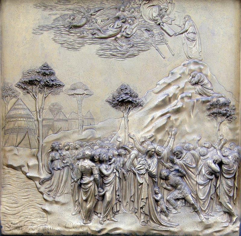 Moïse reçoit les tables de la loi