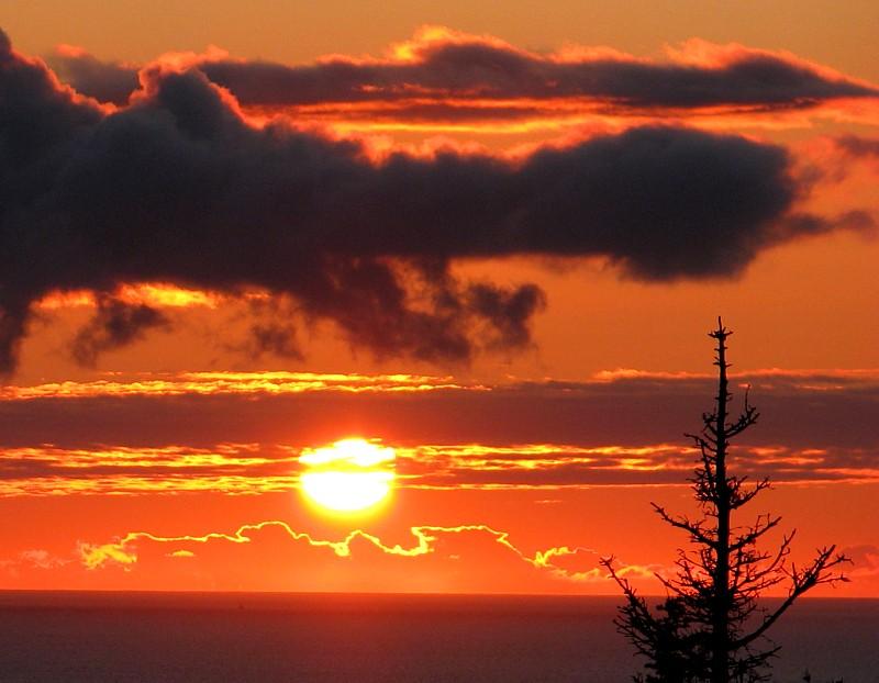 Sunrise at Percé