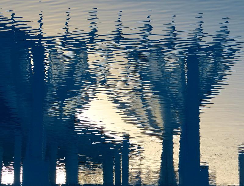 ombres sur la piscine