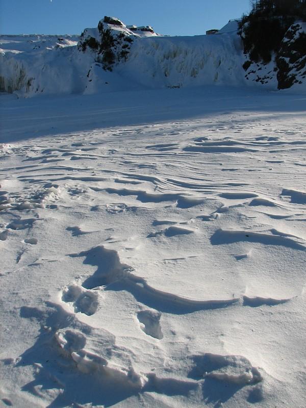 frozen rapids,  Chaudière river