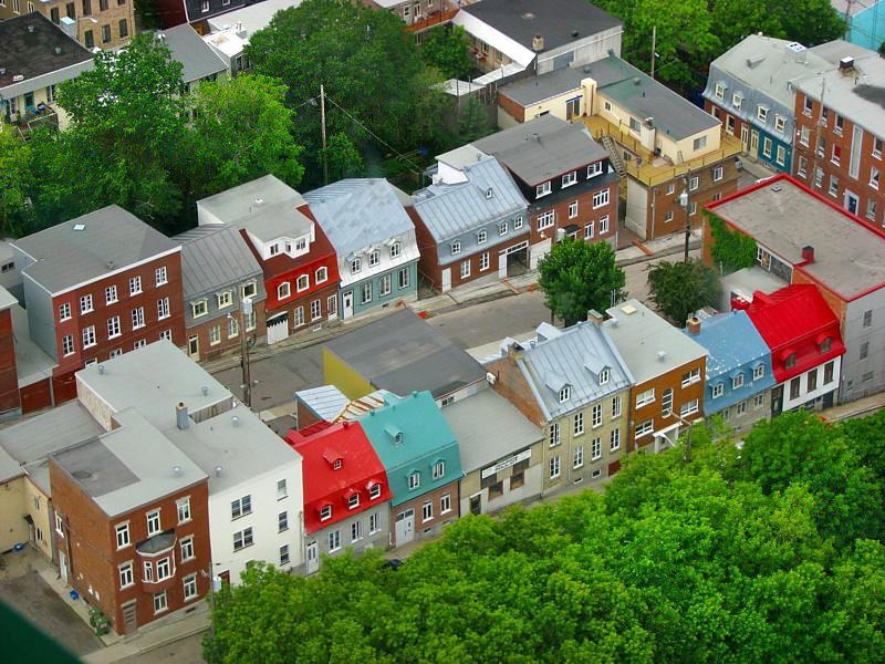 rue en pente de Québec