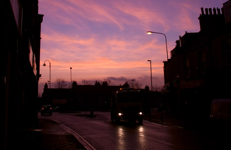 8th February 2012 <br> purple sky