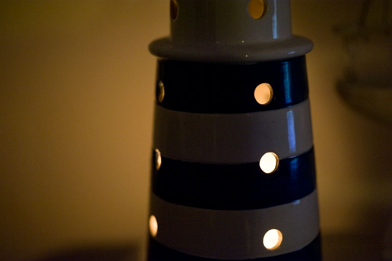16th January 2013 <br> lighthouse candle