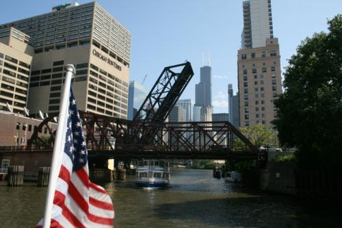 Chicago River (Sears Tower in background)