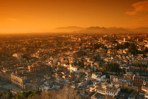 Sundown over Granada