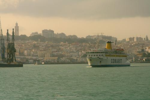 Entering Tangier Port