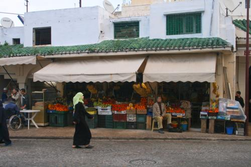 Fruit stall in Tangier