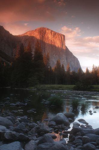 El Capitan at Sunset, Yosemite