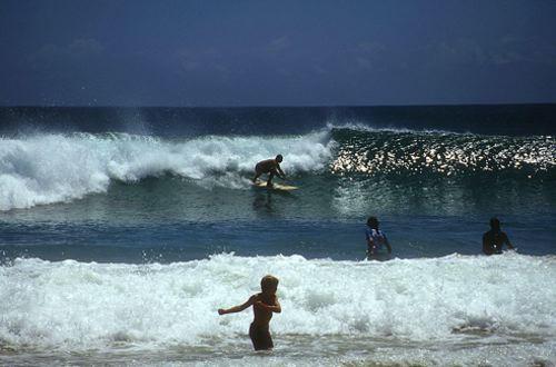 Surfing at Byron Bay