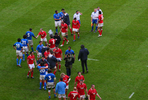 Its game over, Wales 47 Italy 8