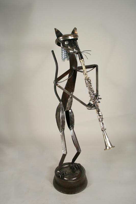 jazz cat on clarinet