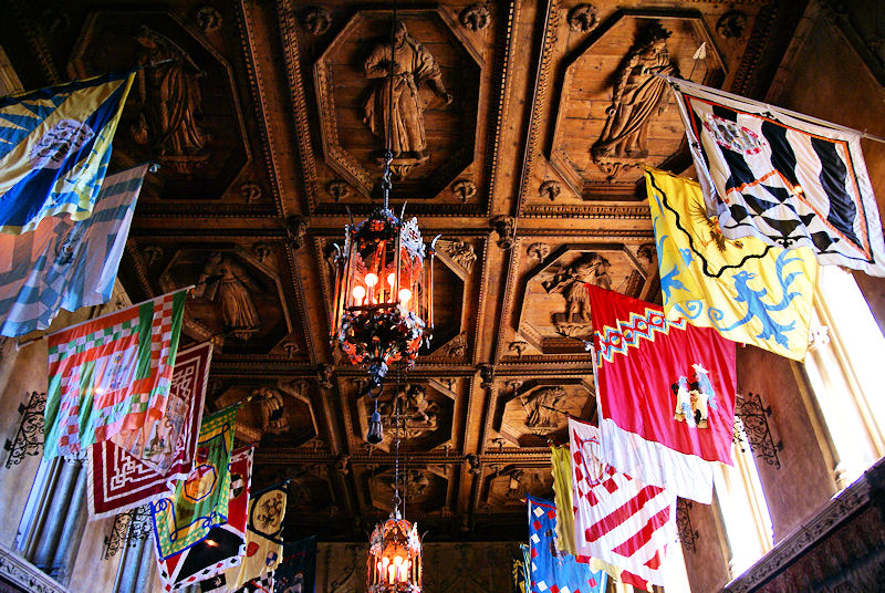 Hearst Castle Dining Room Flags