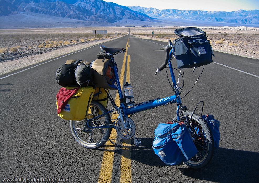 302    Bill - Touring California - Bike Friday New World Tourist touring bike