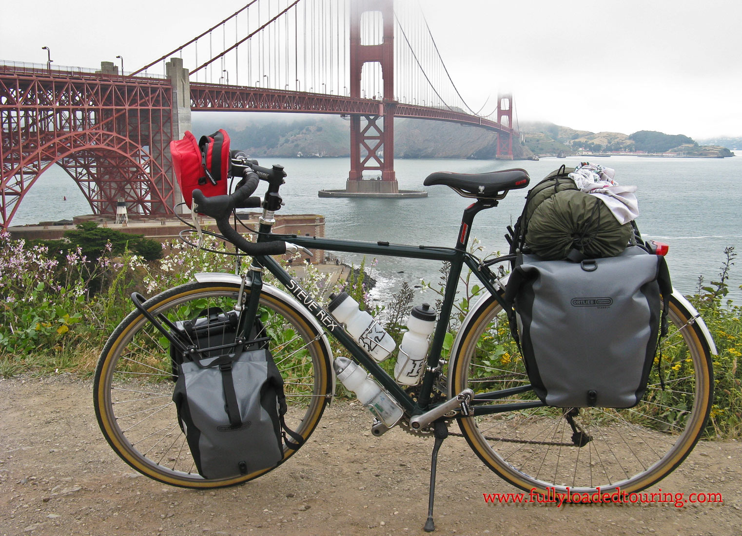 358    Herb - Touring California - Steve Rex Touring touring bike
