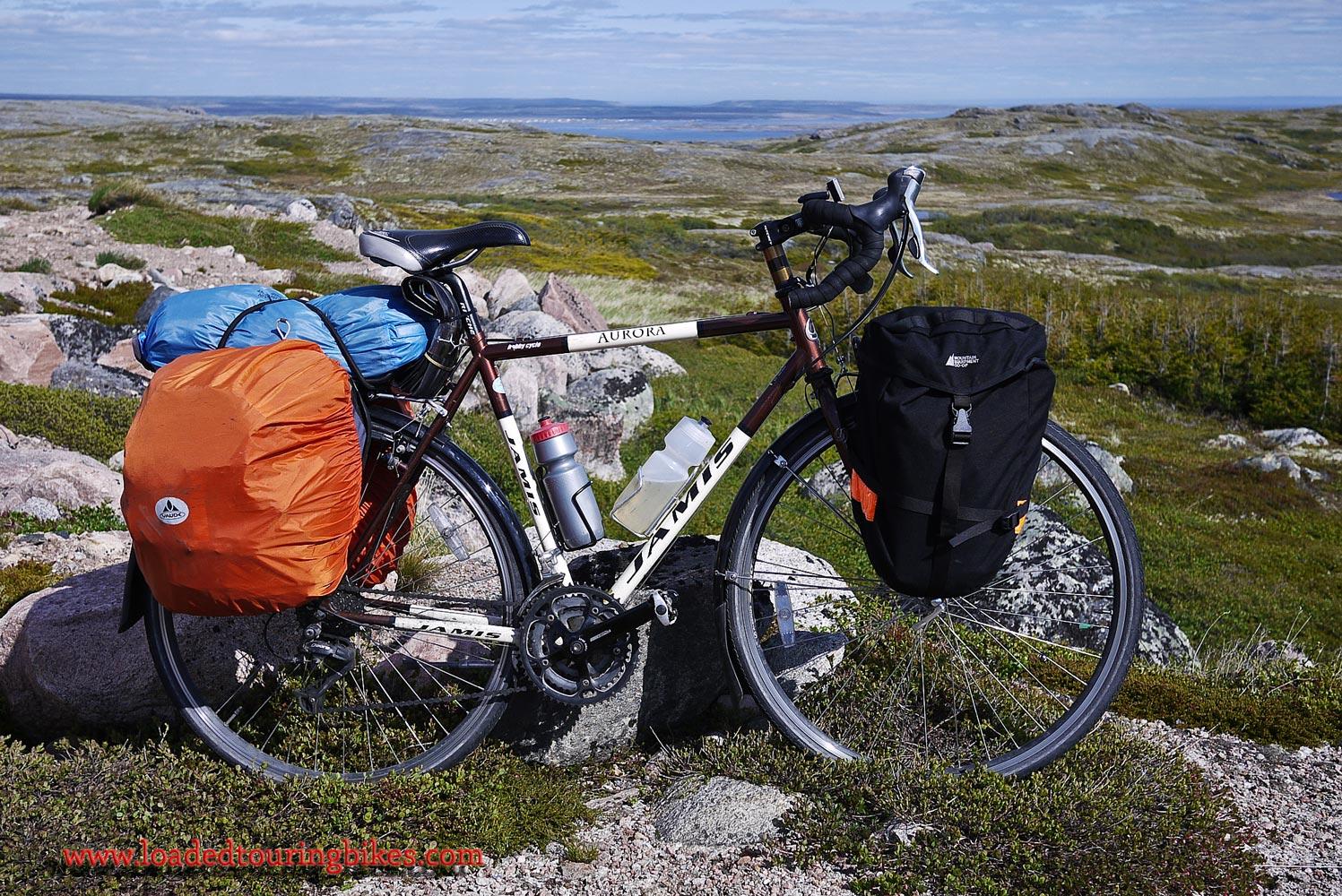 381    Elaine touring Labrador - Jamis Aurora touring bike