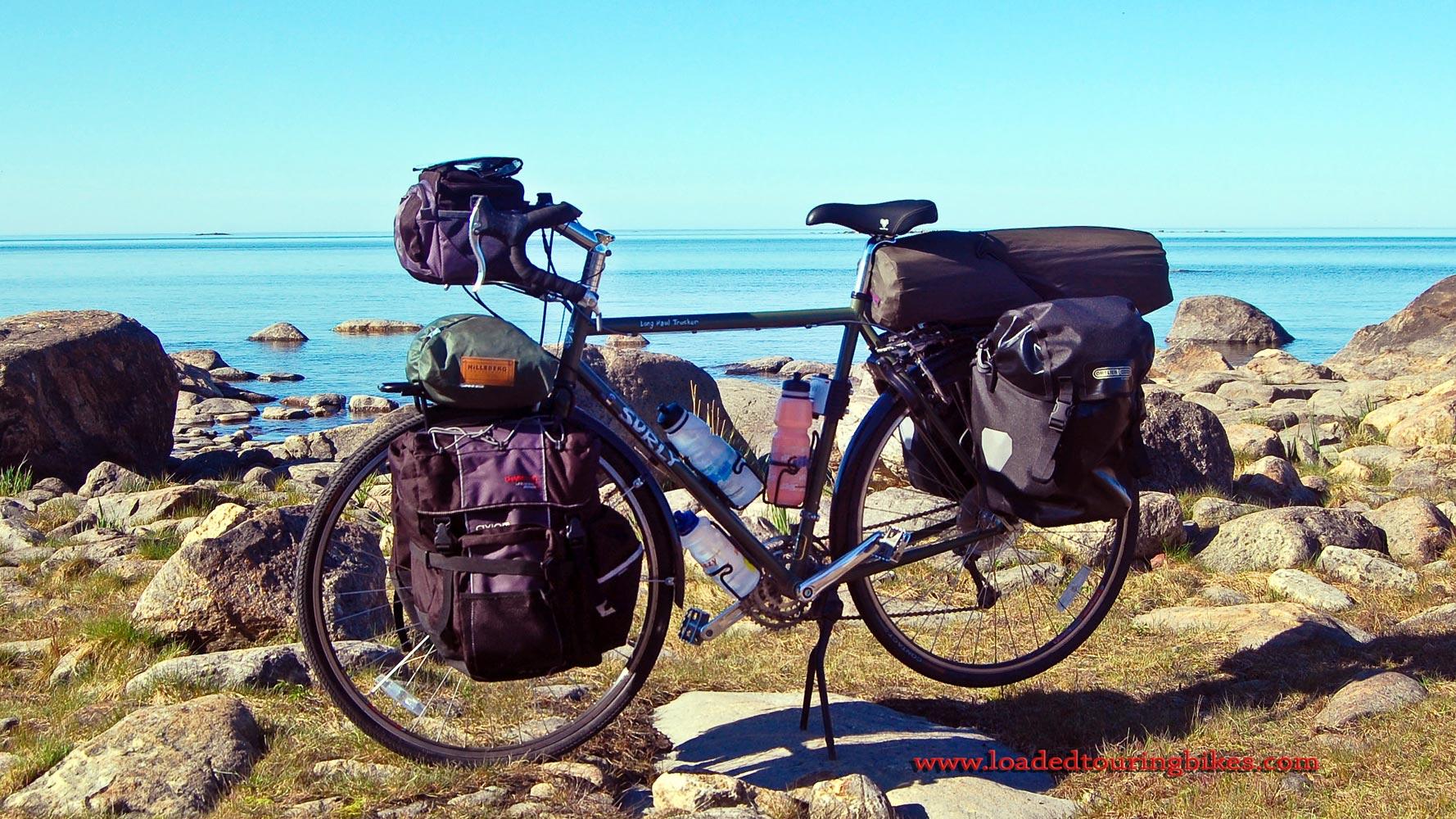 407    Matias touring Finland - Surly Long Haul Trucker touring bike