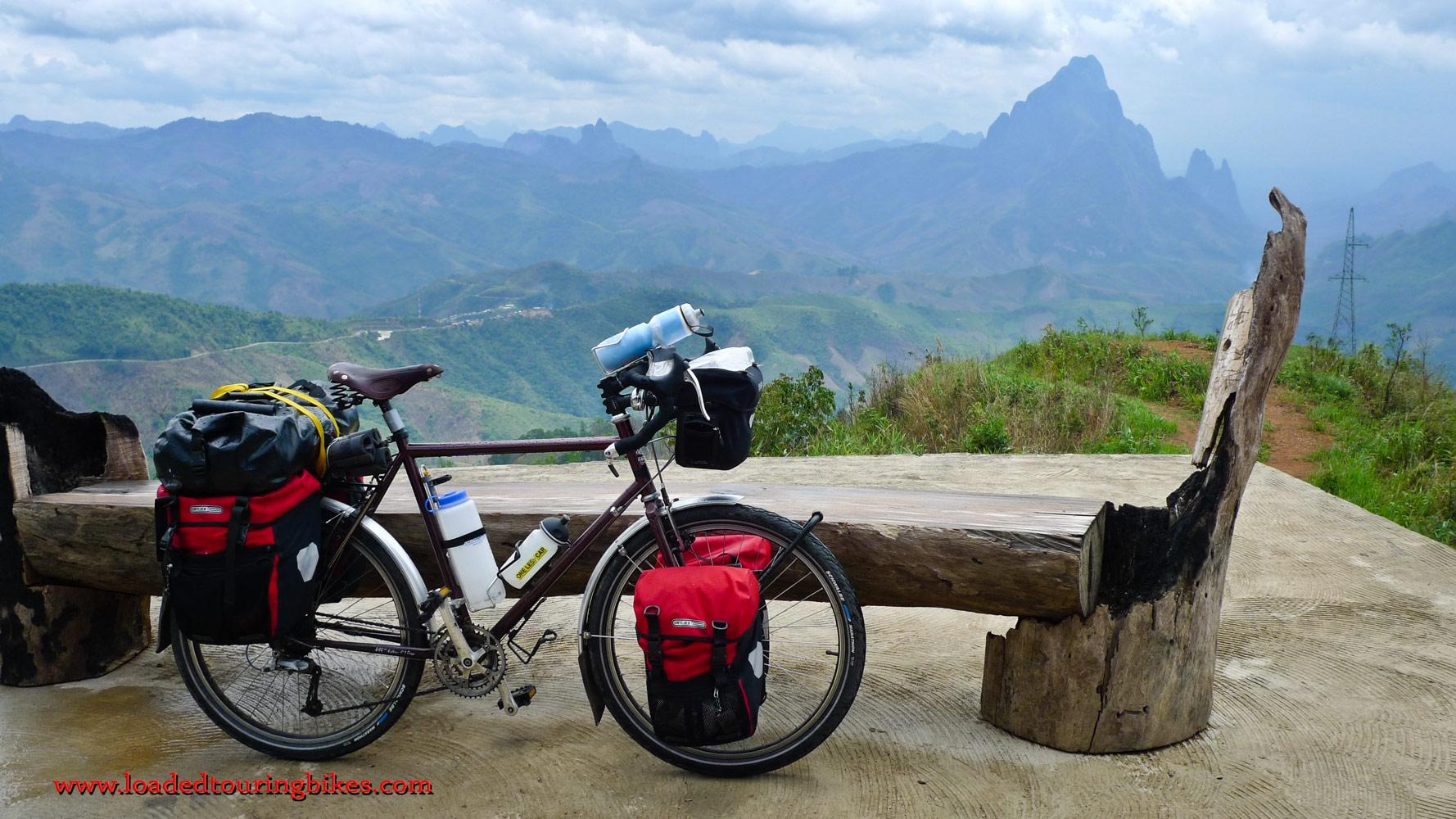 410    Brian touring Laos - Surly Long Haul Trucker touring bike