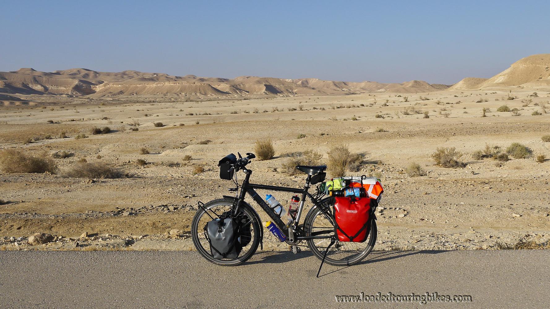 418    Matt touring Israel - Koga Miyata World Traveller touring bike