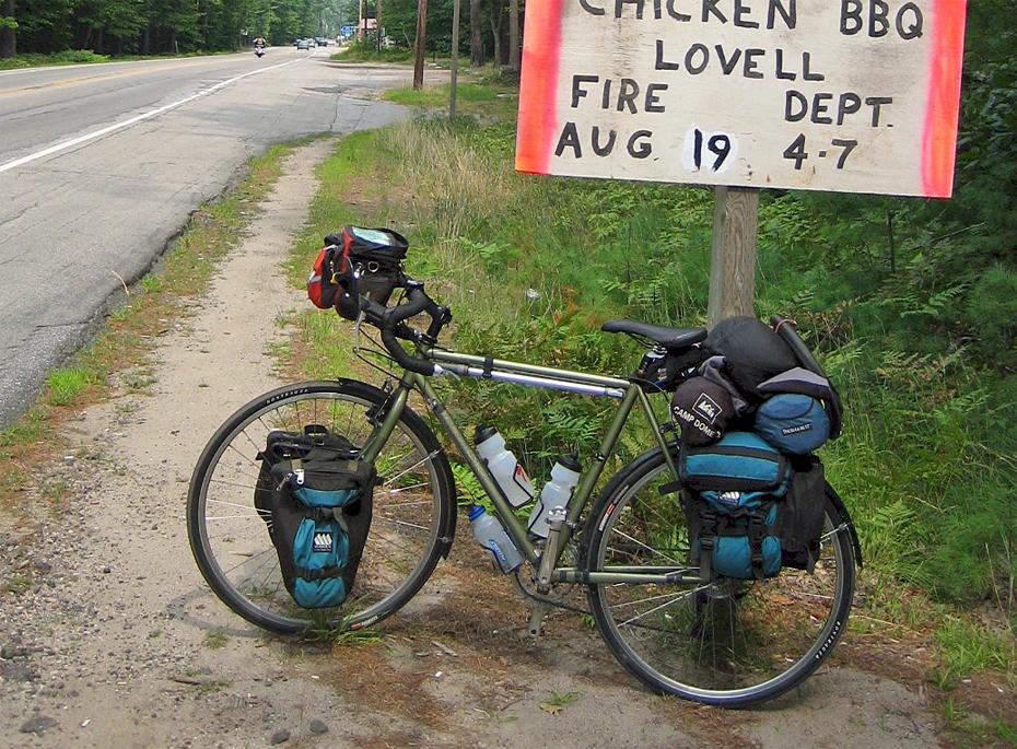 141  Terry - Touring through Maine - Trek 520 touring bike