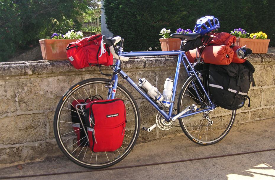 157  Nat - Touring through France - Trek 520 touring bike