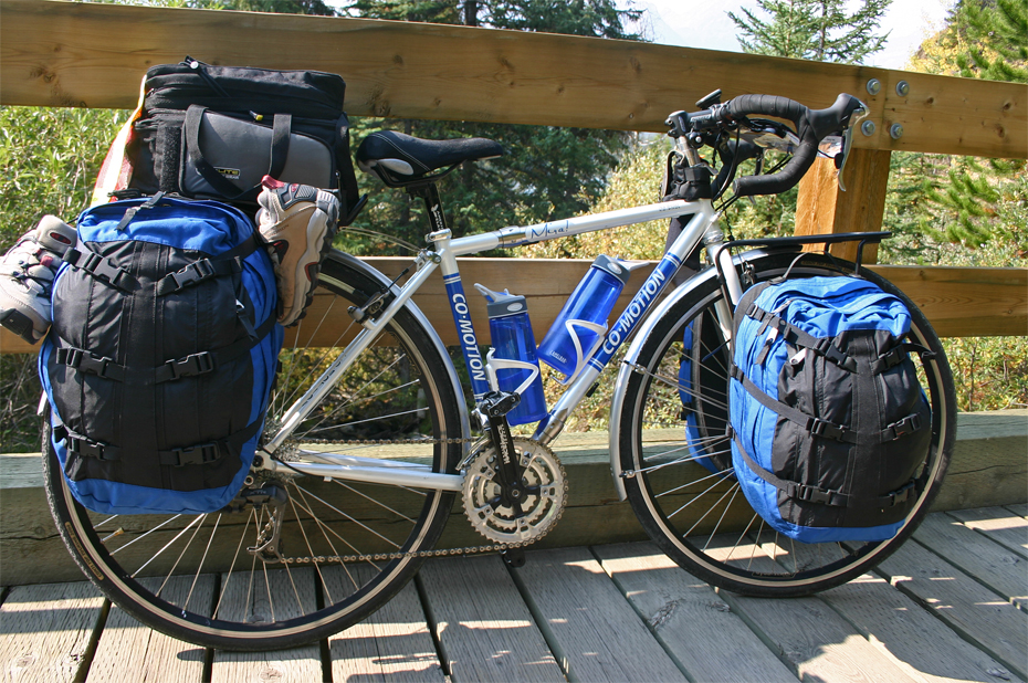 158  Nancy - Touring Alberta Canada - Co-Motion NorWester touring bike