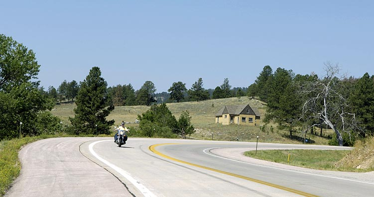 Rider on Highway 385