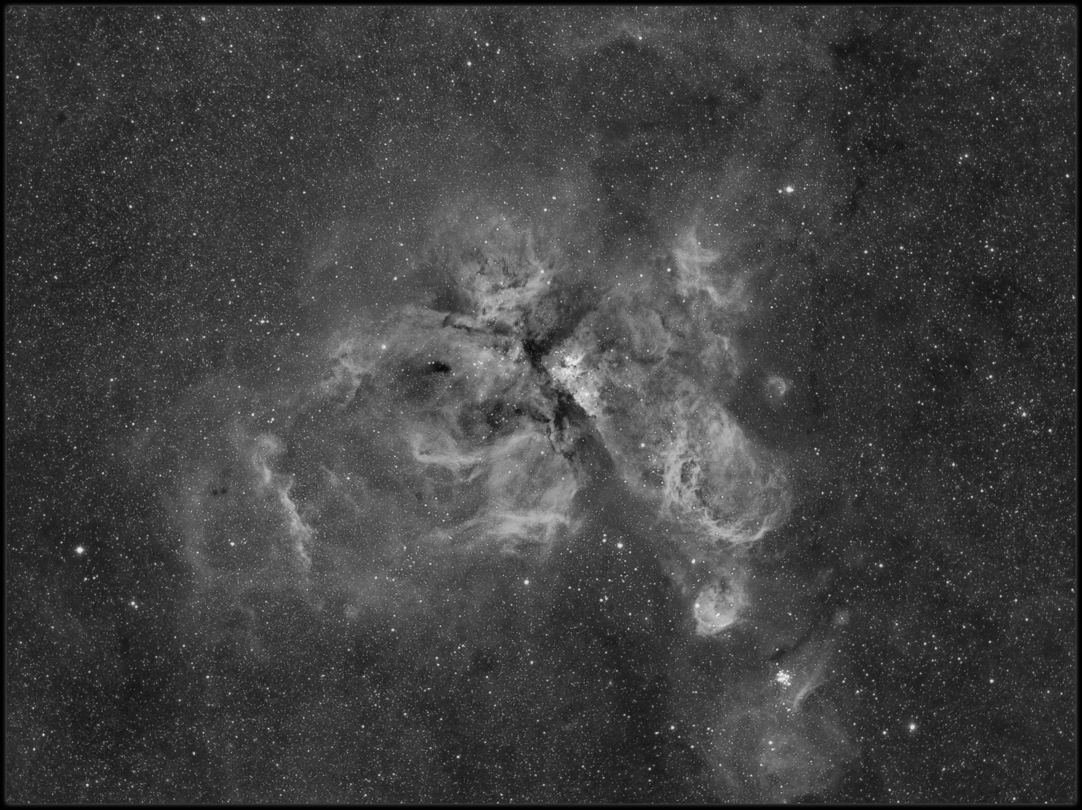 Eta Carina nebula - Widefield - HA only