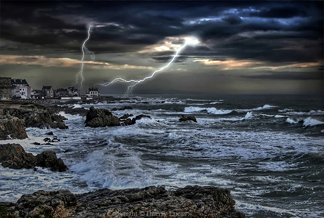 Storm at Le Croisic in France