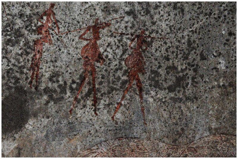 Cave paintings, Matobos NP Zimbabwe