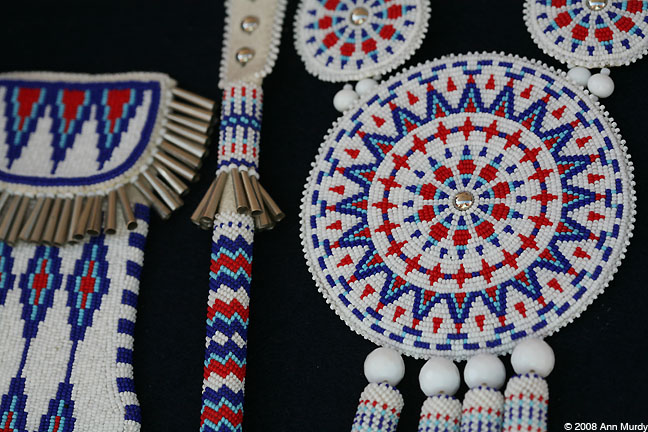Beadwork by Kiowa artist Richard Aitson
