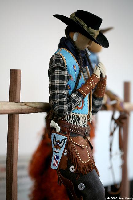 Indian Cowboy Doll by Jamie Okuma